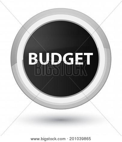 Budget Prime Black Round Button