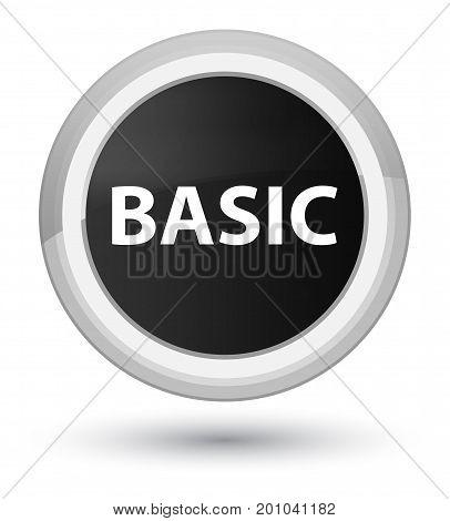 Basic Prime Black Round Button