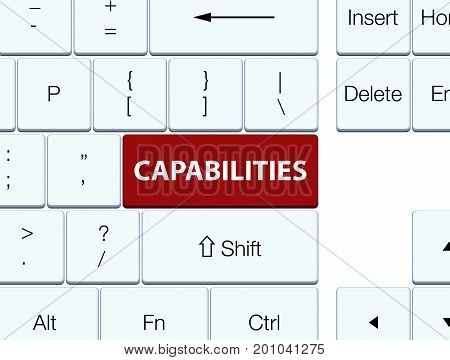Capabilities Brown Keyboard Button