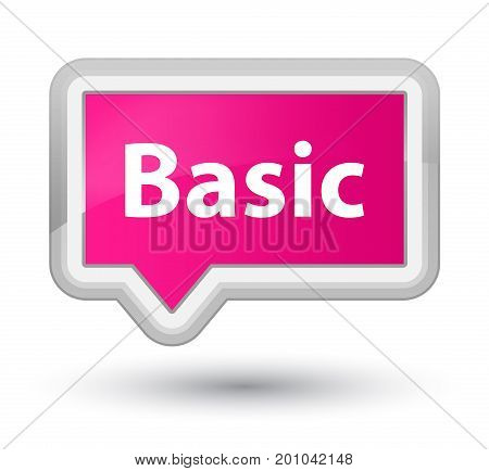 Basic Prime Pink Banner Button