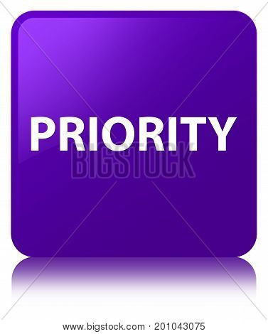 Priority Purple Square Button