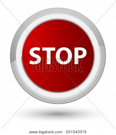 Stop Prime Red Round Button