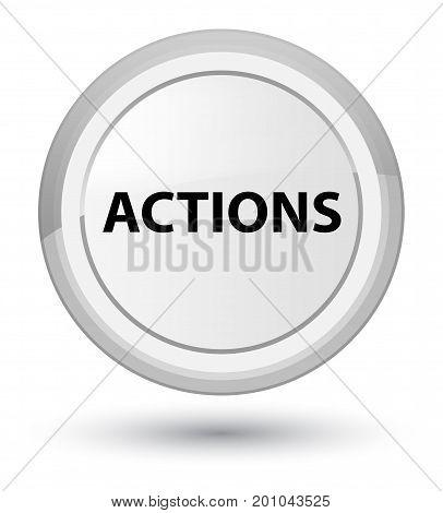 Actions Prime White Round Button