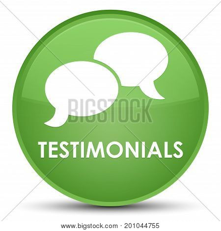 Testimonials (chat Icon) Special Soft Green Round Button