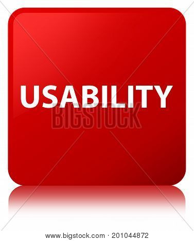 Usability Red Square Button