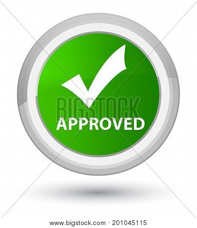 Approved (validate Icon) Prime Green Round Button