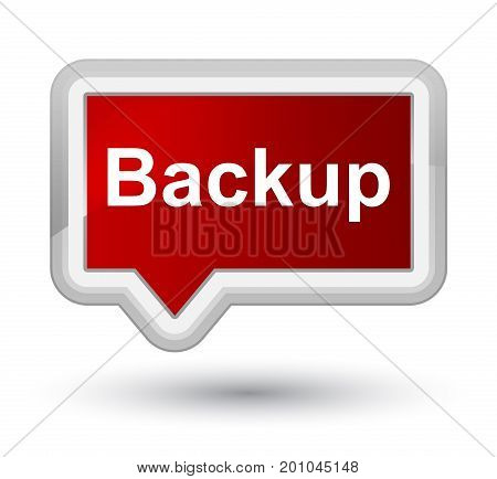 Backup Prime Red Banner Button