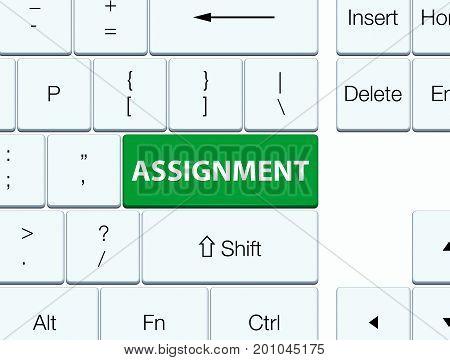 Assignment Green Keyboard Button