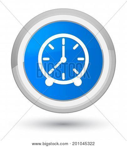 Clock Icon Prime Cyan Blue Round Button