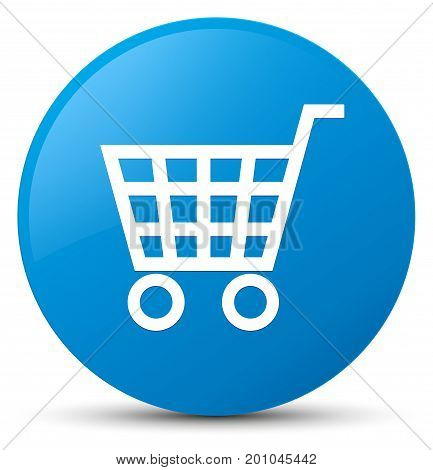 Ecommerce Icon Cyan Blue Round Button