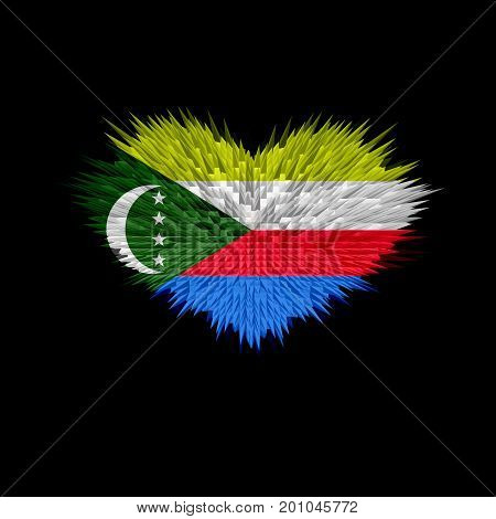 The Heart of Comoros Flag abstract background.