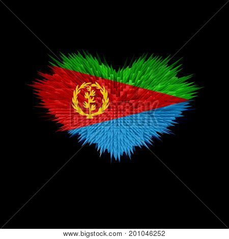 The Heart of Eritrea Flag abstract background.