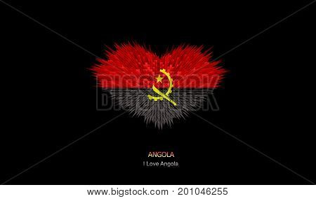 The Heart of Angola Flag abstract background.