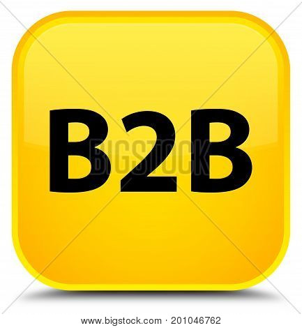 B2B Special Yellow Square Button