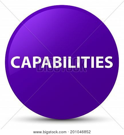 Capabilities Purple Round Button