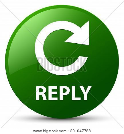 Reply (rotate Arrow Icon) Green Round Button