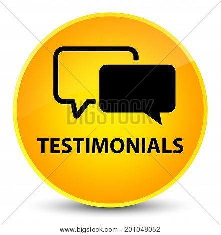 Testimonials Elegant Yellow Round Button