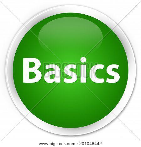 Basics Premium Green Round Button