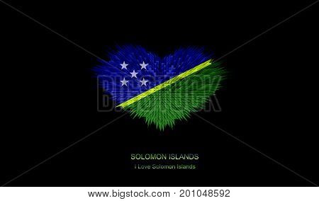 The Heart of Solomon Islands Flag abstract background.