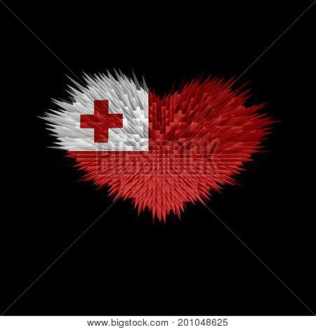 The Heart of Tonga Flag abstract background.