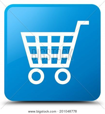 Ecommerce Icon Cyan Blue Square Button