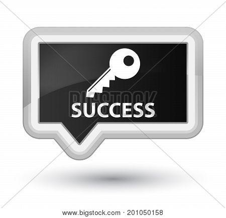 Success (key Icon) Prime Black Banner Button
