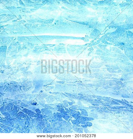 Watercolor abstract blue background. Design concept. Sea and ocean.
