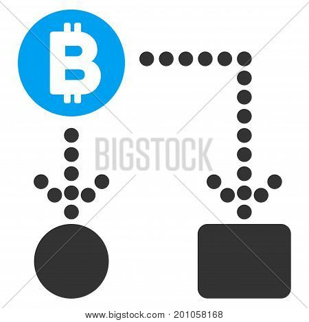 Bitcoin Cashflow flat vector pictogram for application and web design.