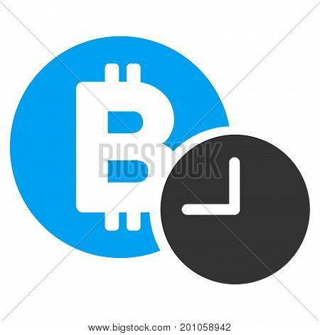 Bitcoin Credit Time flat vector pictogram for application and web design.
