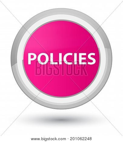 Policies Prime Pink Round Button