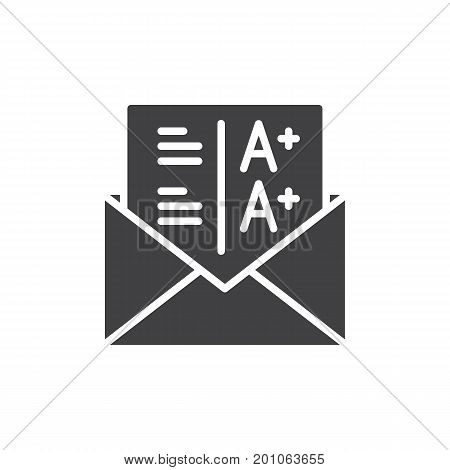 Grades icon vector, filled flat sign, solid pictogram isolated on white. Symbol, logo illustration. Pixel perfect vector graphics