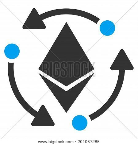 Ethereum Rotation flat vector icon for application and web design.