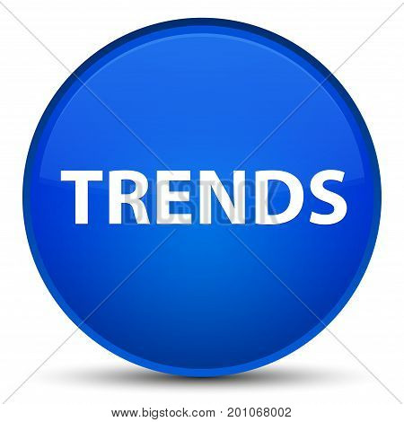Trends Special Blue Round Button