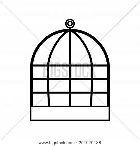 Iron Cage Black Color Icon .