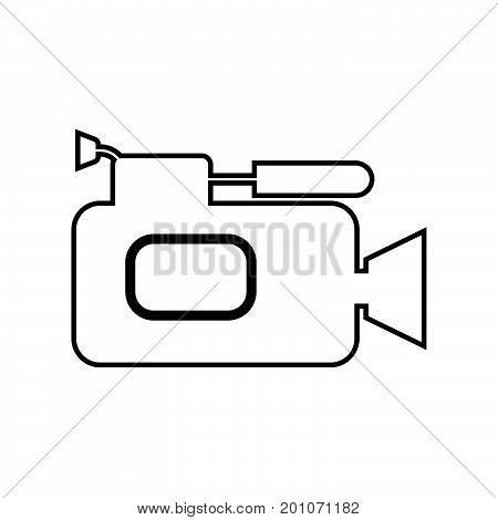 Videocamera Black Color Icon .
