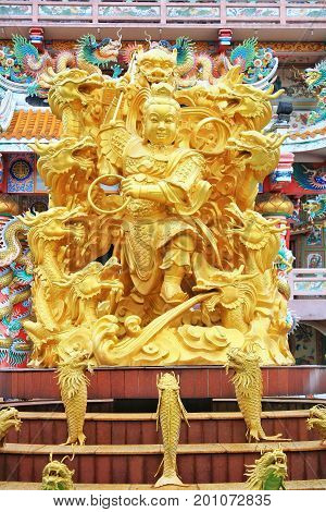 Chonburi, Thailand - May-5' 2011 : Ang Sila Chinese Temple or Wihan Thep Sathit Phra Kitti Chaloem - Nacha Sa Thai Chue Shrine - Bangsaen Rd., Ang Sila, Muang, Chonburi in Thailand