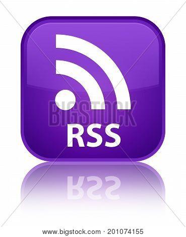 Rss Special Purple Square Button
