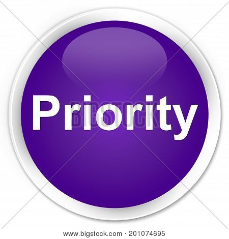 Priority Premium Purple Round Button