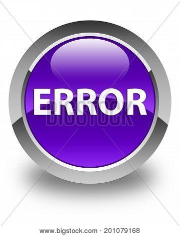 Error Glossy Purple Round Button