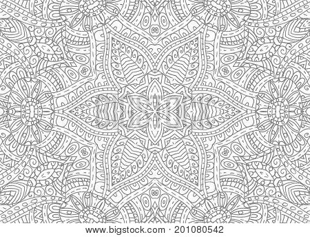 Black and white graphics with abstract outline pattern