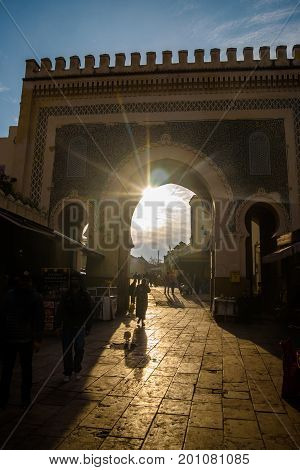Bab Boujloud (blue Gate) In Fez, Morocco