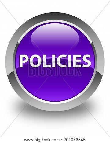 Policies Glossy Purple Round Button