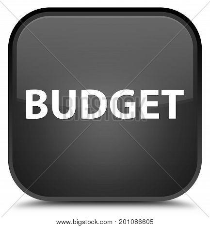 Budget Special Black Square Button