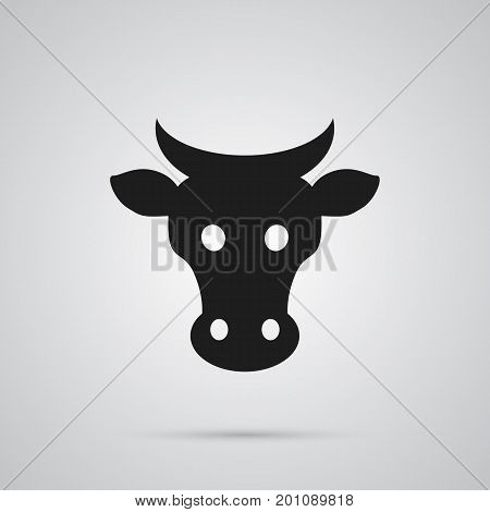 Vector Kine  Element In Trendy Style.  Isolated Cow Icon Symbol On Clean Background.