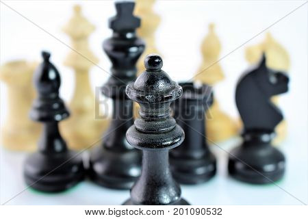 An concept image of chess figures - Close up