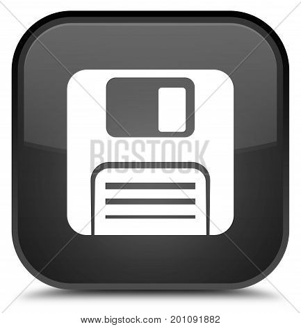 Floppy Disk Icon Special Black Square Button