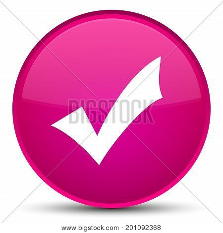 Validation Icon Special Pink Round Button