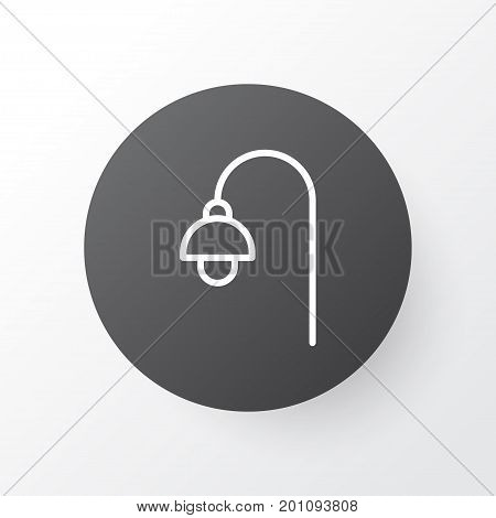 Premium Quality Isolated Lamppost Element In Trendy Style.  Street Light Icon Symbol.
