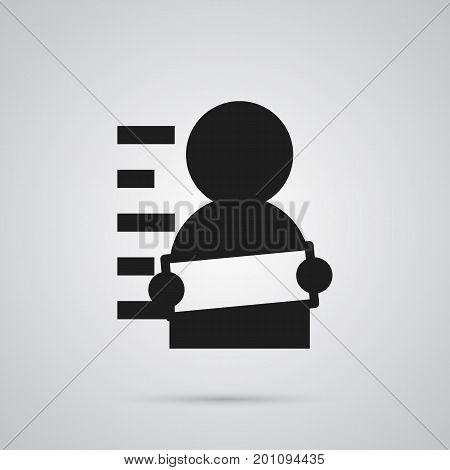 Vector Suspicious Element In Trendy Style.  Isolated Suspect Icon Symbol On Clean Background.