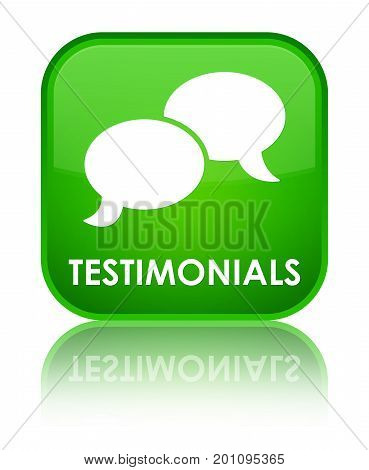 Testimonials (chat Icon) Special Green Square Button